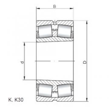 ISO 239/560 KW33 spherical roller bearings