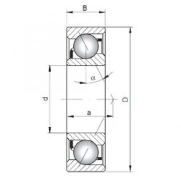 ISO 7313 B angular contact ball bearings