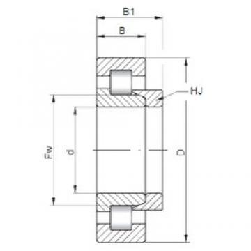 ISO NH2319 cylindrical roller bearings